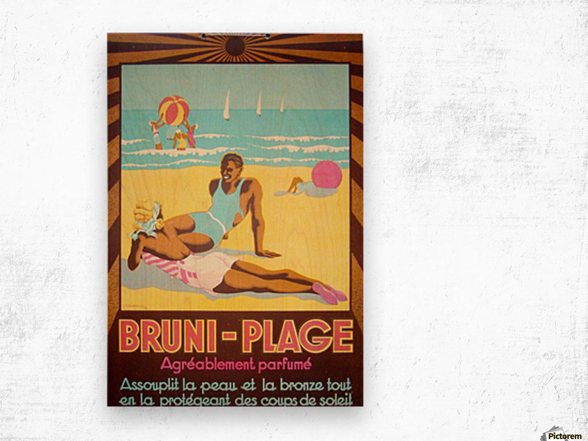 Bruni Plage Wood print