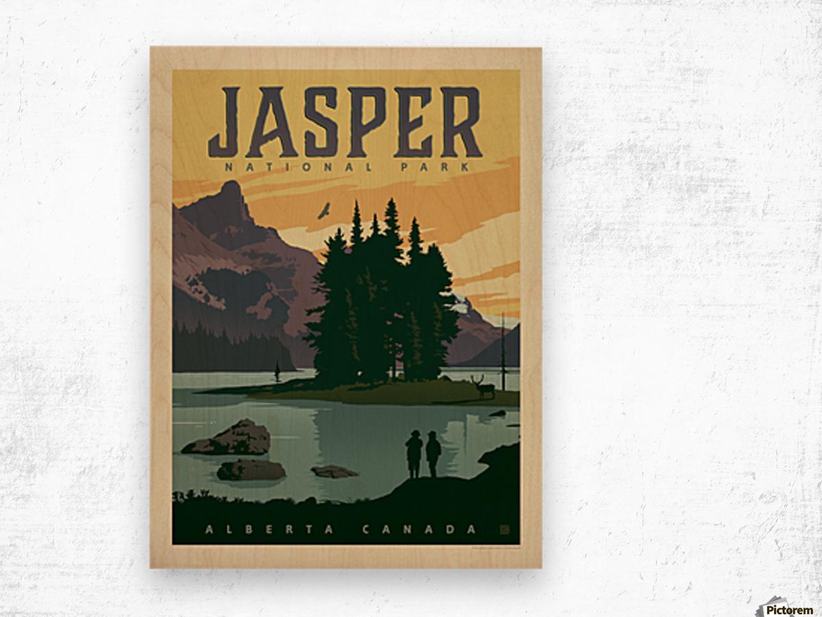 Jasper National Park Wood print