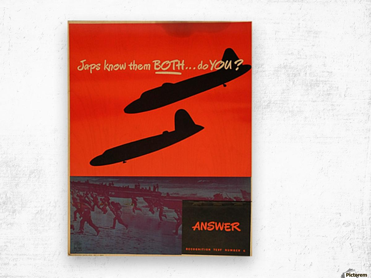 Recognition test vintage poster Wood print