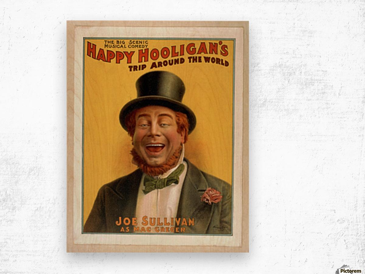 Happy Hooligan's Trip around the world Wood print