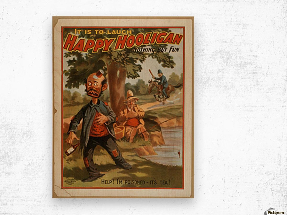 Happy Hooligan Nothing but fun Wood print