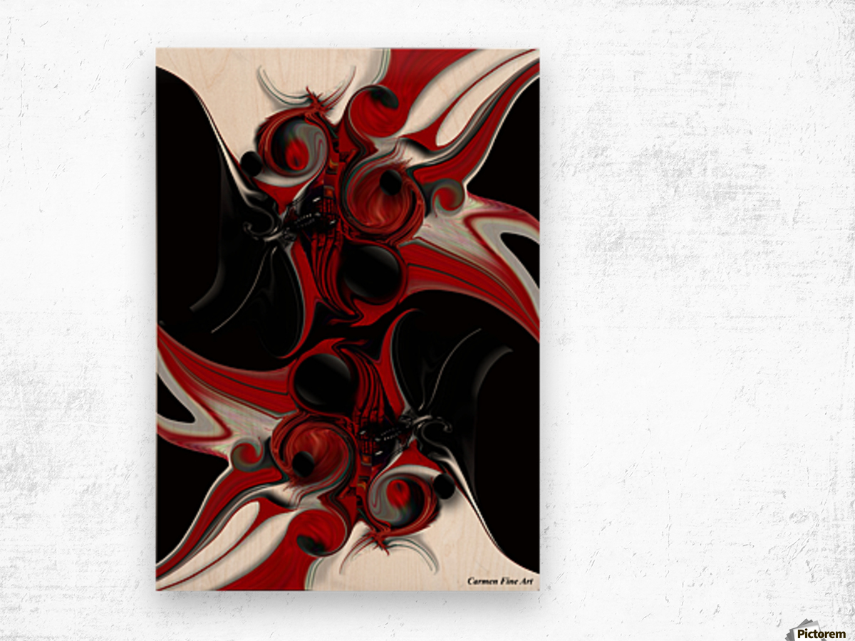 Act with Intuitive Creation Wood print
