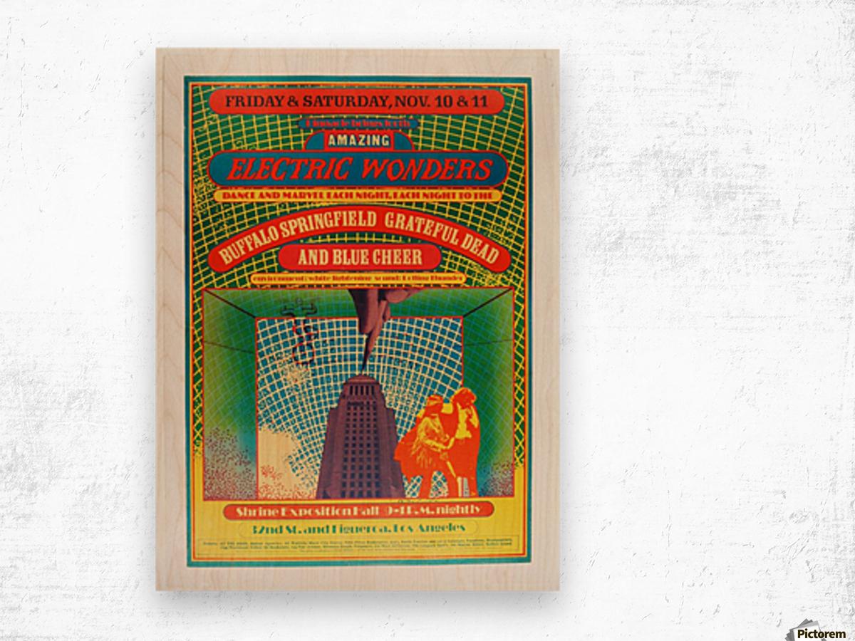 1967 Shrine Exposition Hall Buffalo Springfield Grateful Dead Wood print