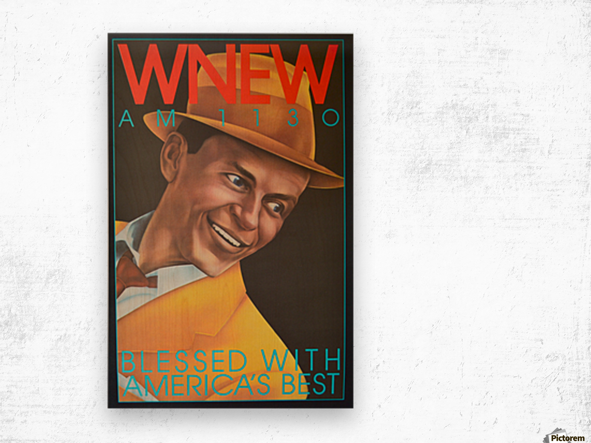 WNEW Wood print