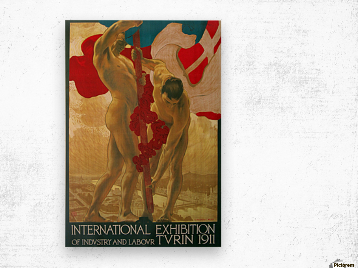 International Exhibition of Industry and Labour Turin 1911 Wood print