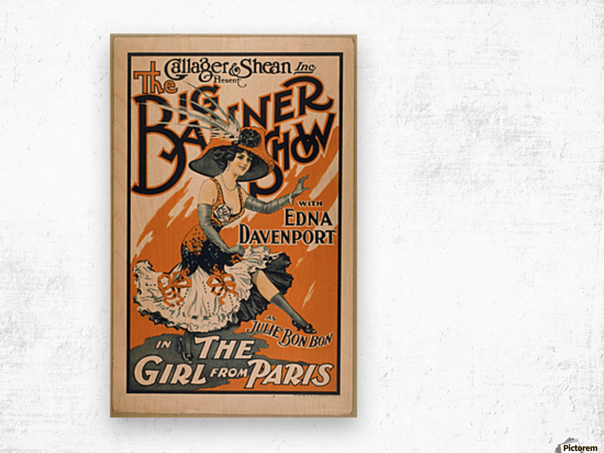 The Girl from Paris Wood print