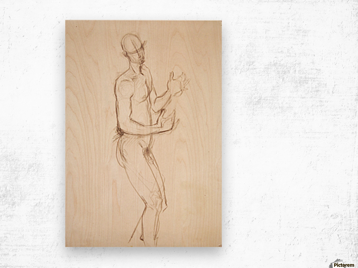 Male Nude Study Wood print