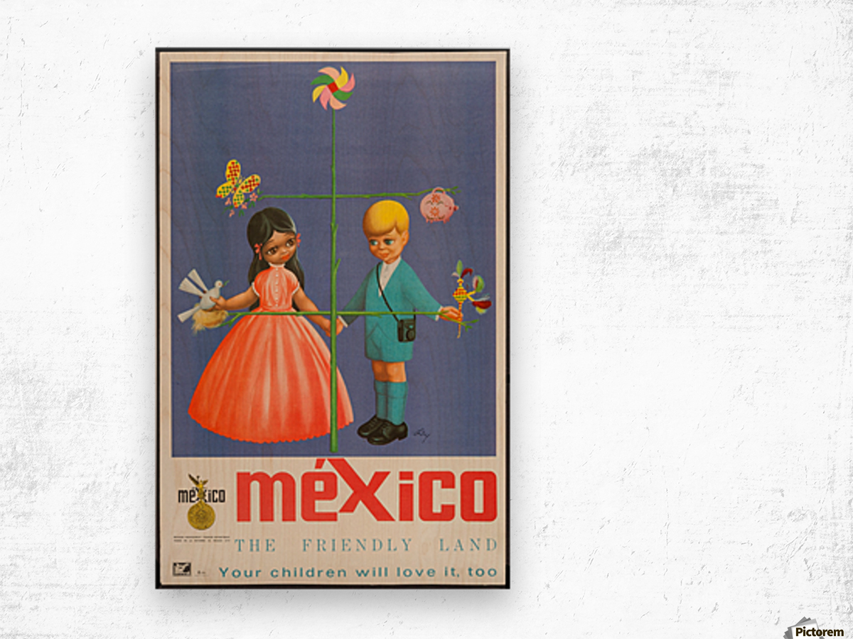 Mexico The friendly land Wood print