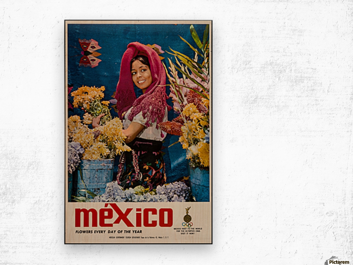 Mexico Flowers every day of the year Wood print