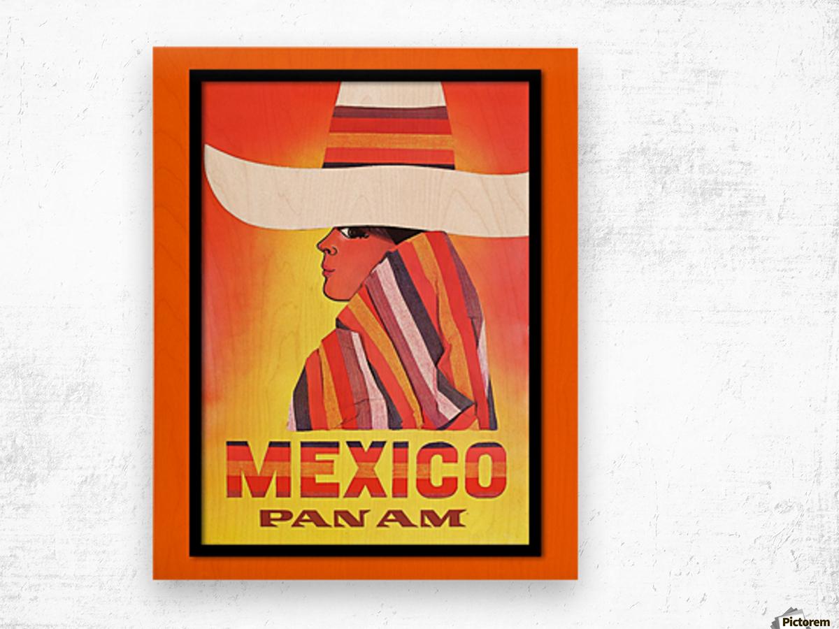 Mexico Travel Print 1968 Wood print
