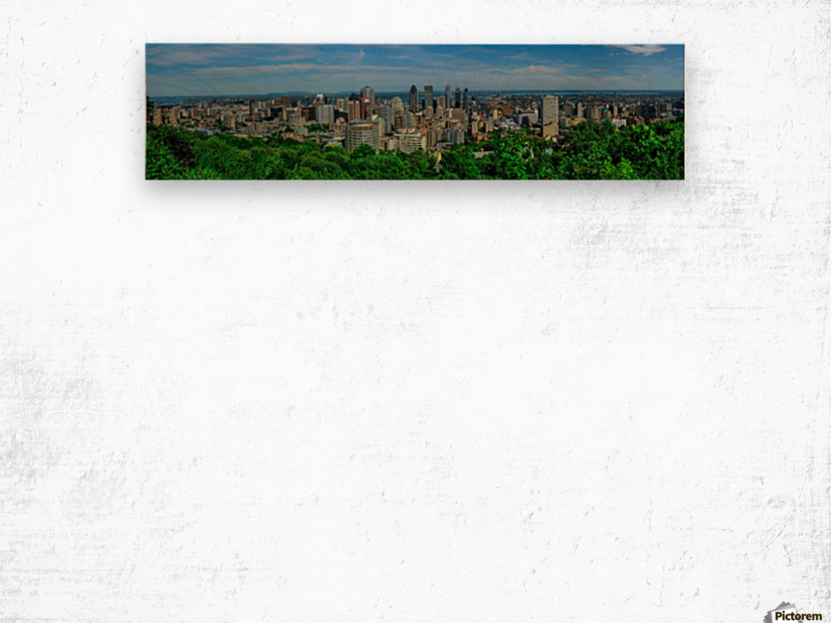 montreal panorama Wood print