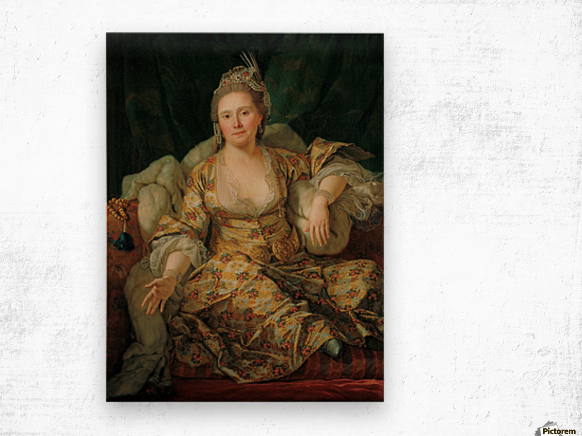 Portrait of the Countess of Vergenne Wood print