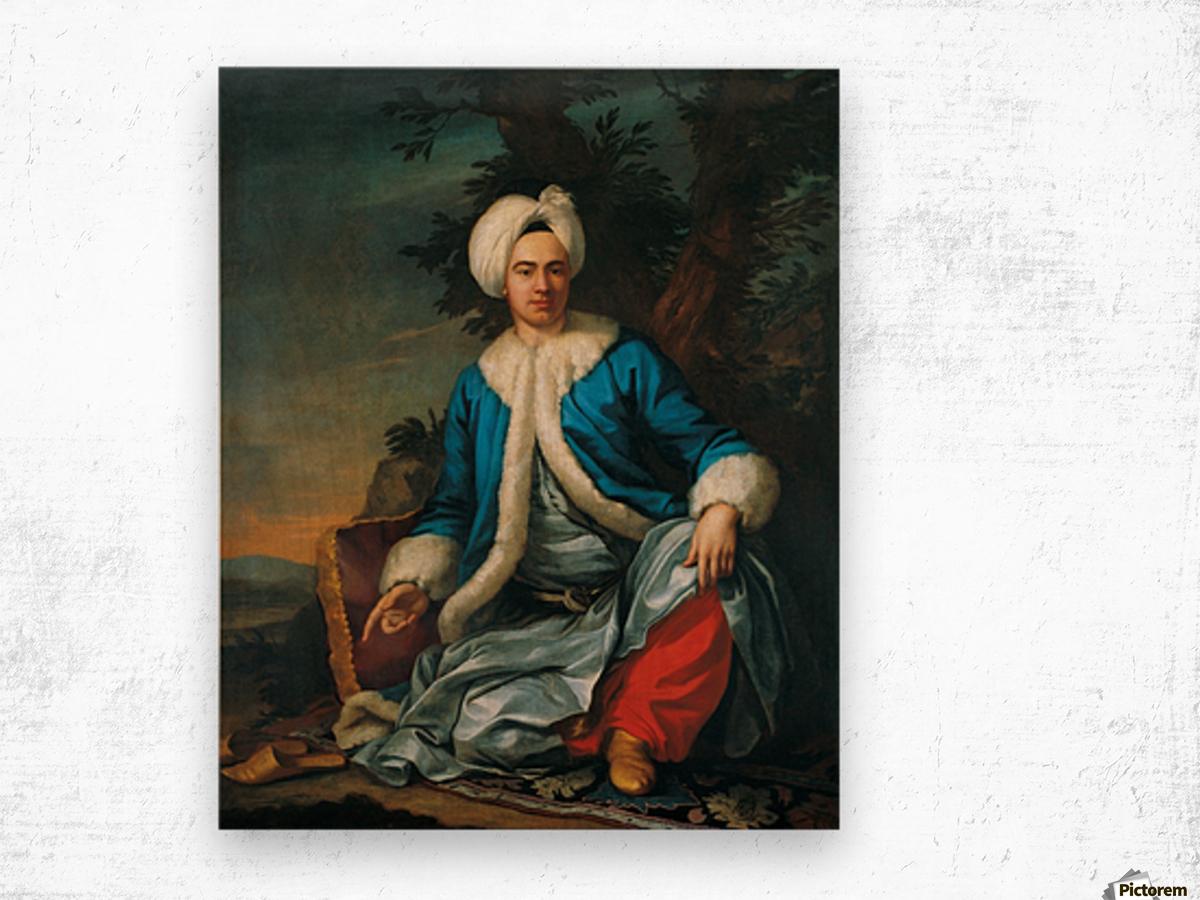 A European figure in Turkish costume Wood print