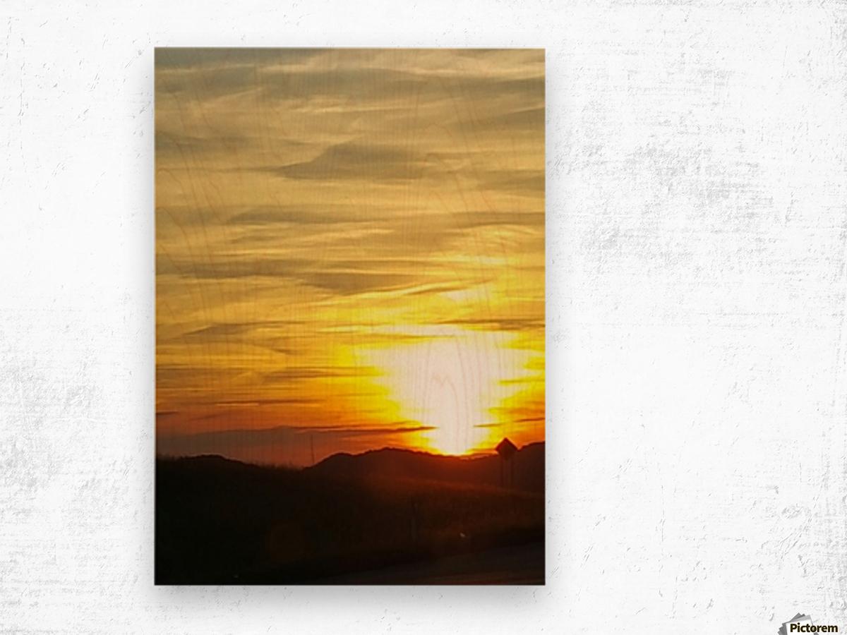 Vanishing Sun Wood print