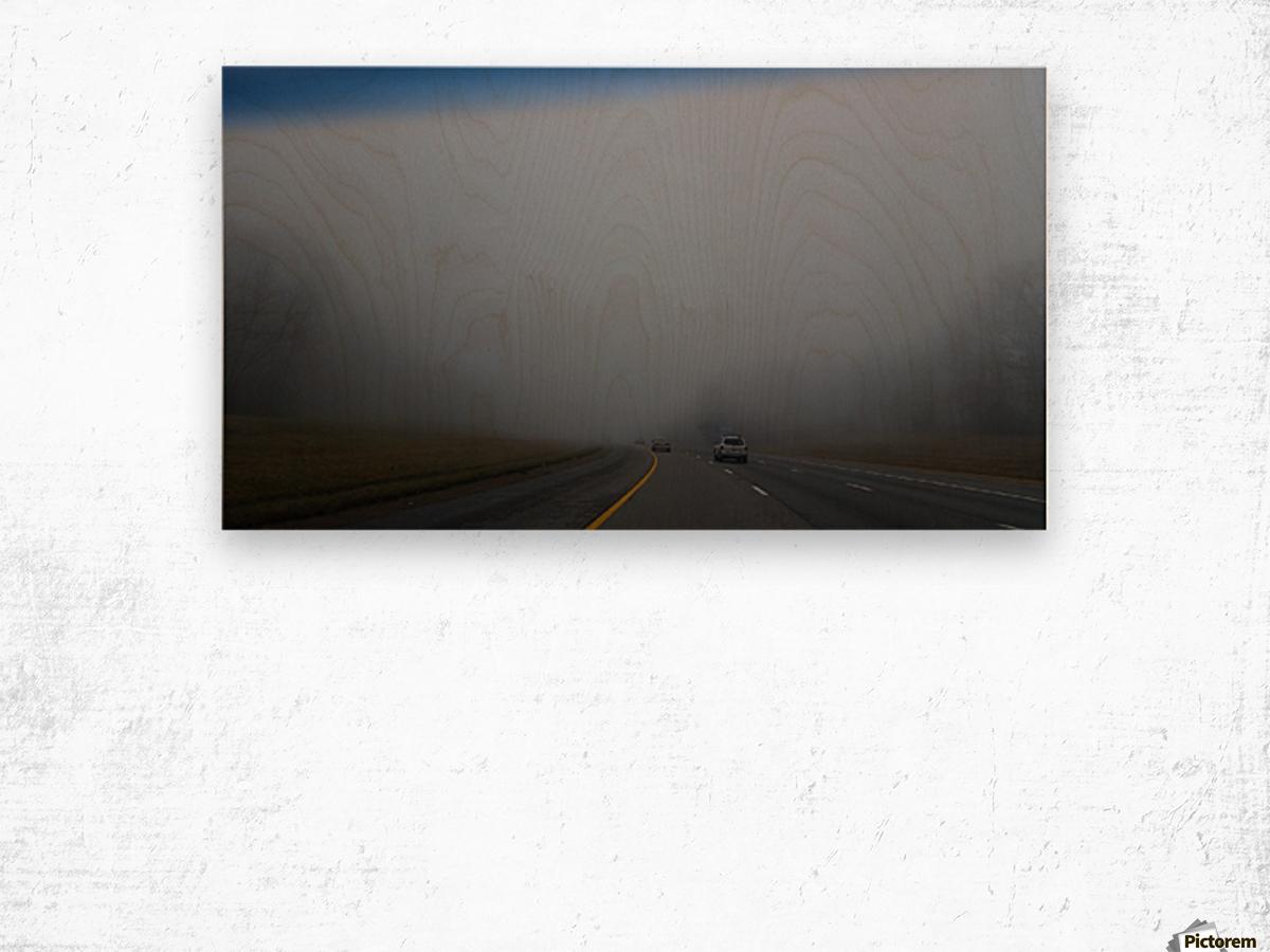 Misty Fog Wood print