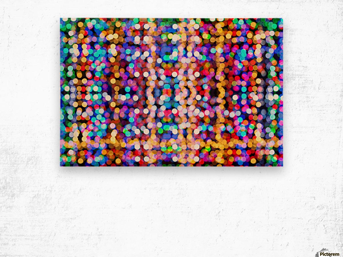 bokeh multicolor Wood print