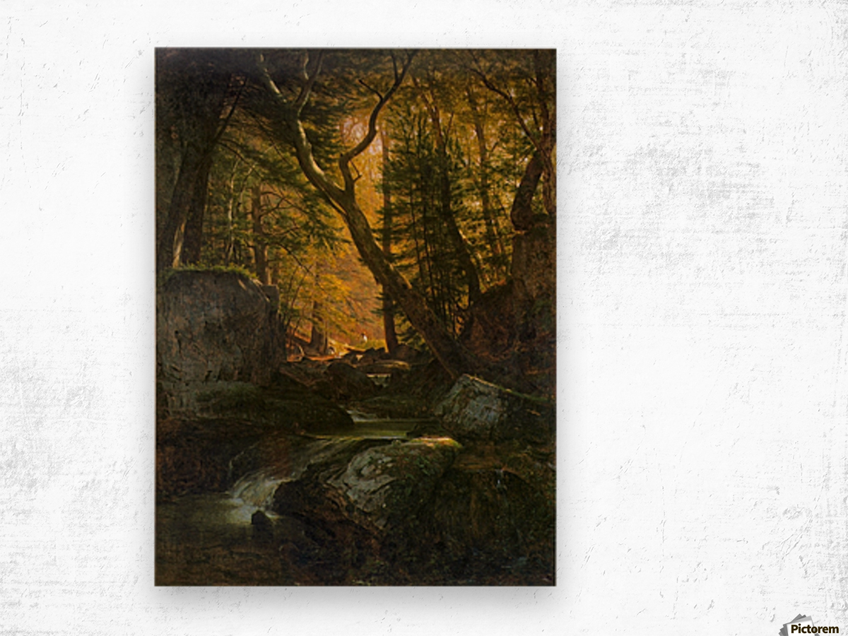 Rivers, Cottage Interiors and Ponds Wood print