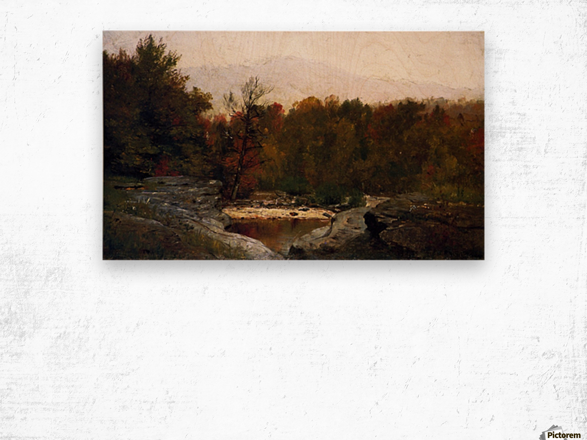 Autumn, Catskill Mountains in the Mist Wood print