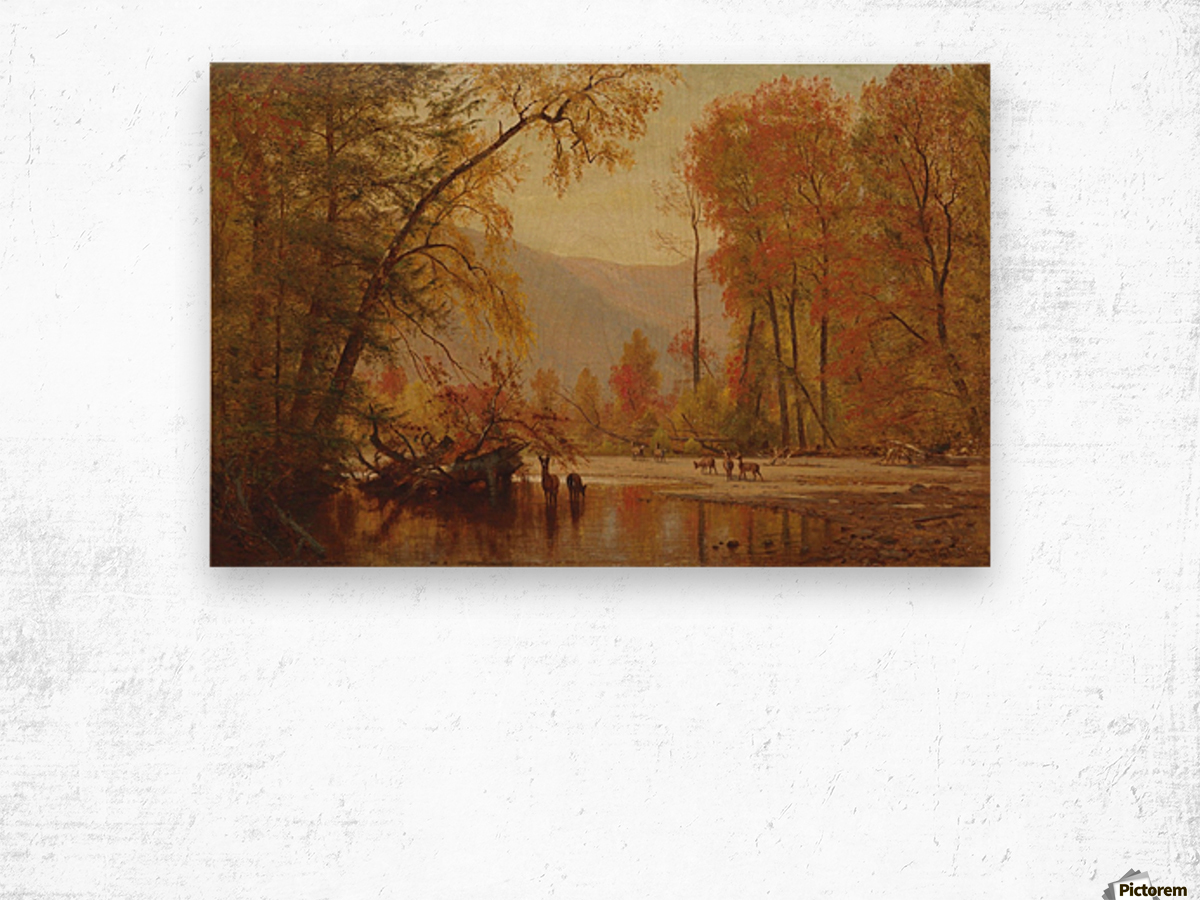 Autumn on the Delaware Wood print