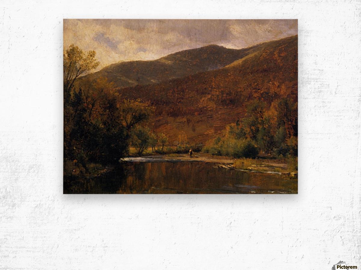 Along the Delaware Wood print