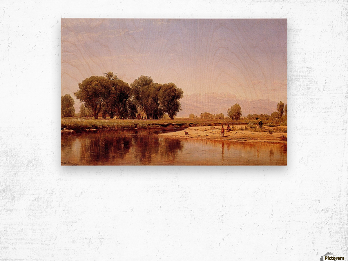 Indian Emcampment on the Platte River Wood print