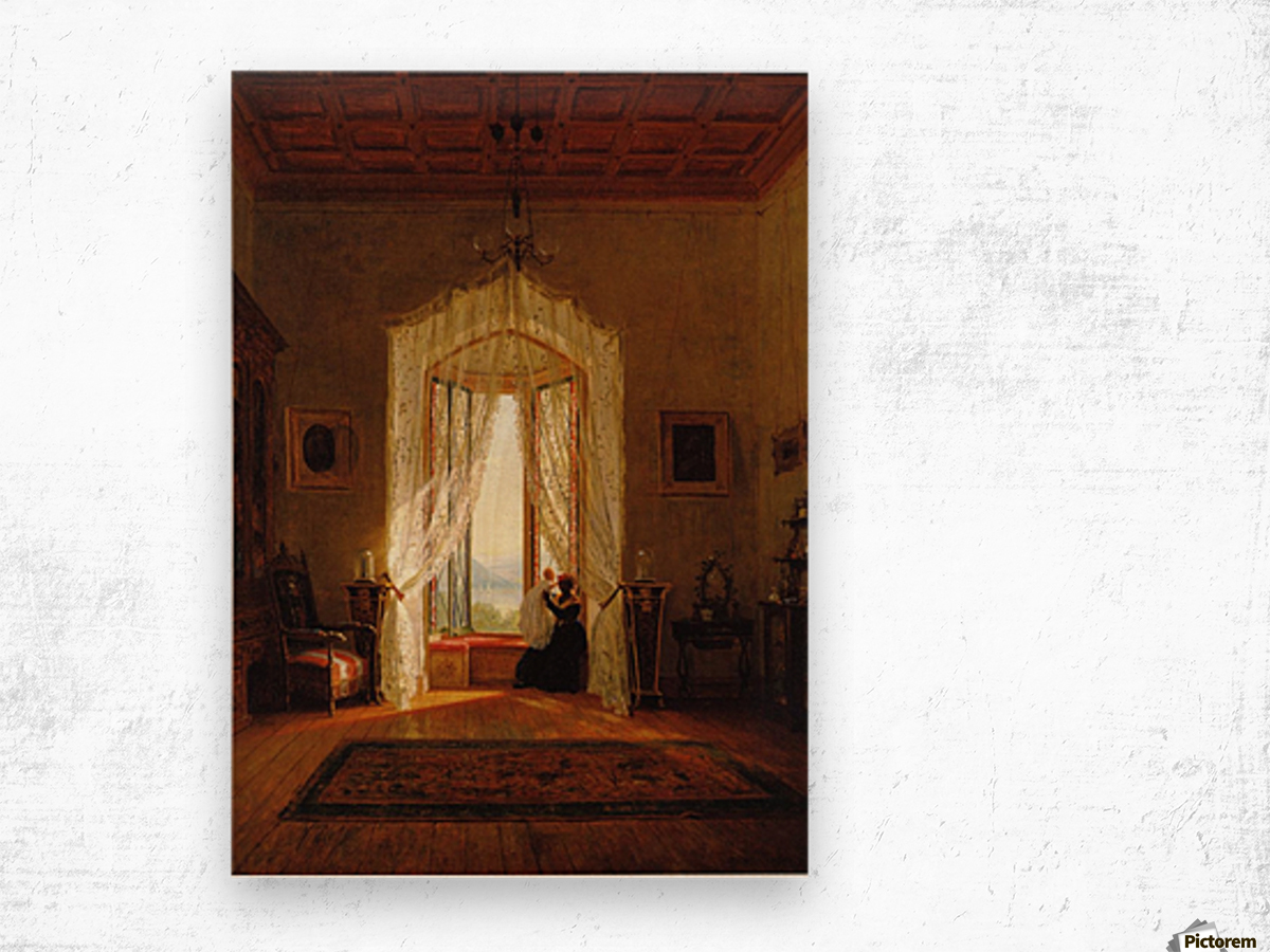 A Window, House on the Hudson River Wood print