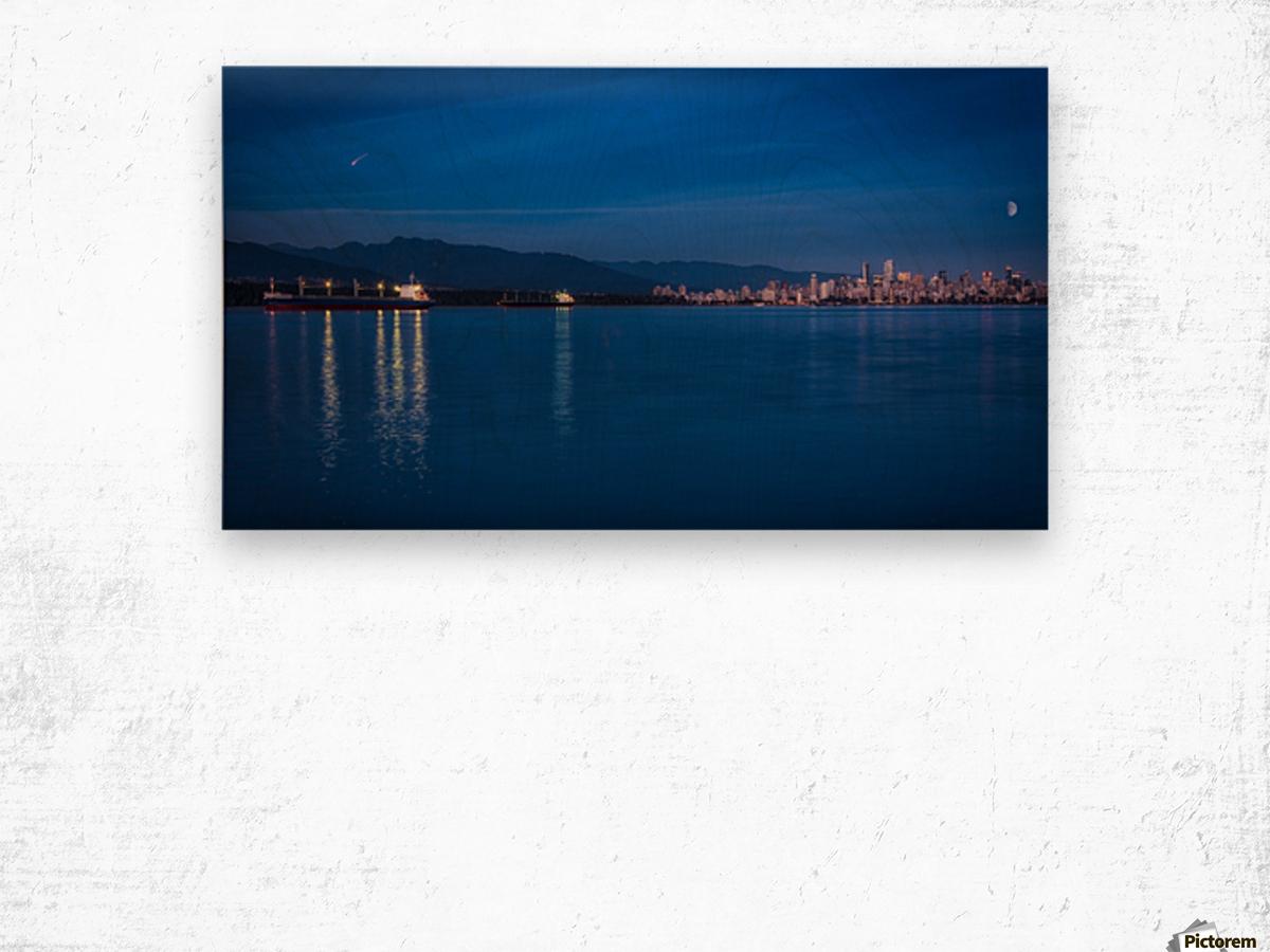 Shooting Star over Vancouver Wood print