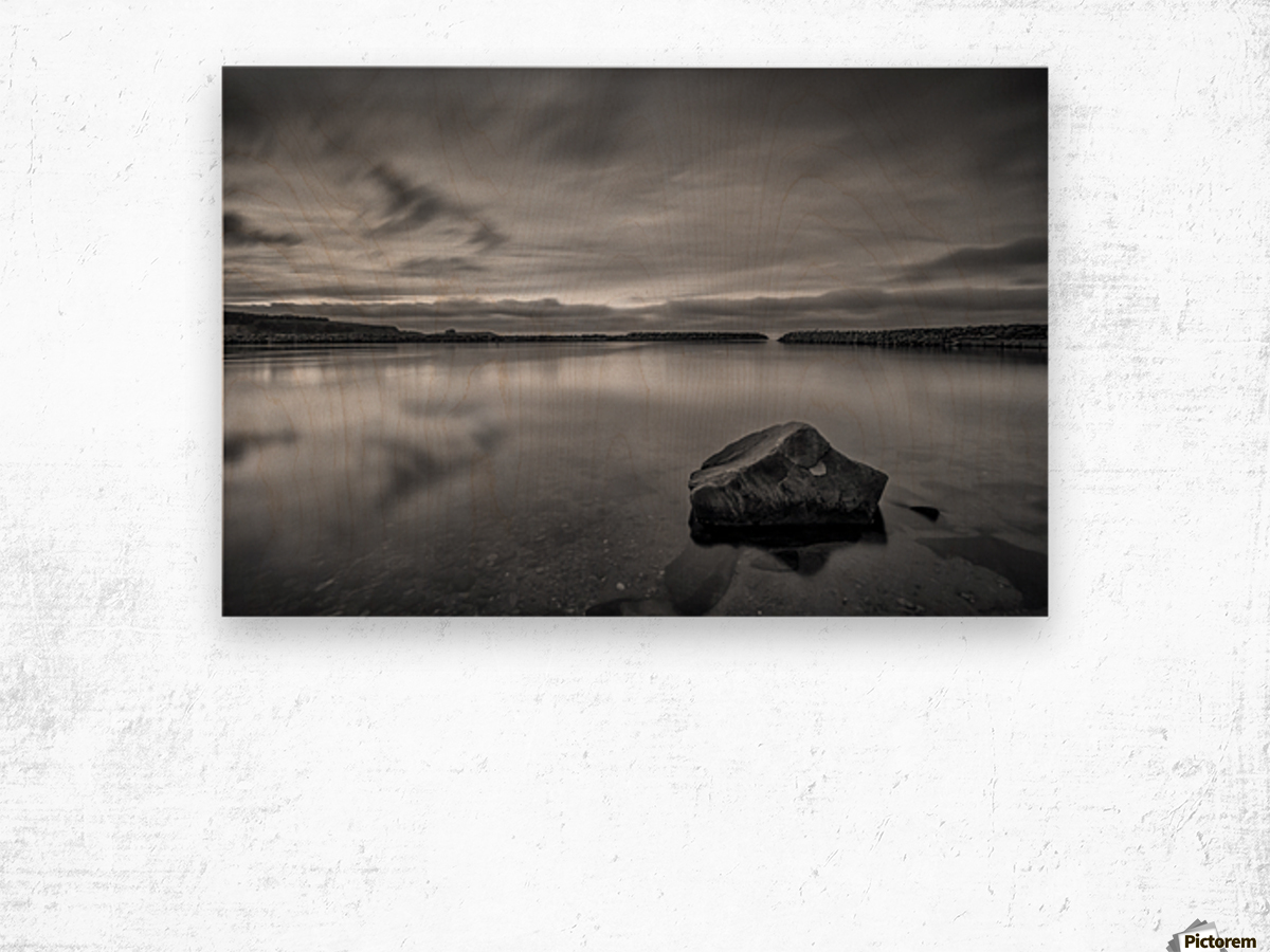 Inside the Harbour - bw Wood print