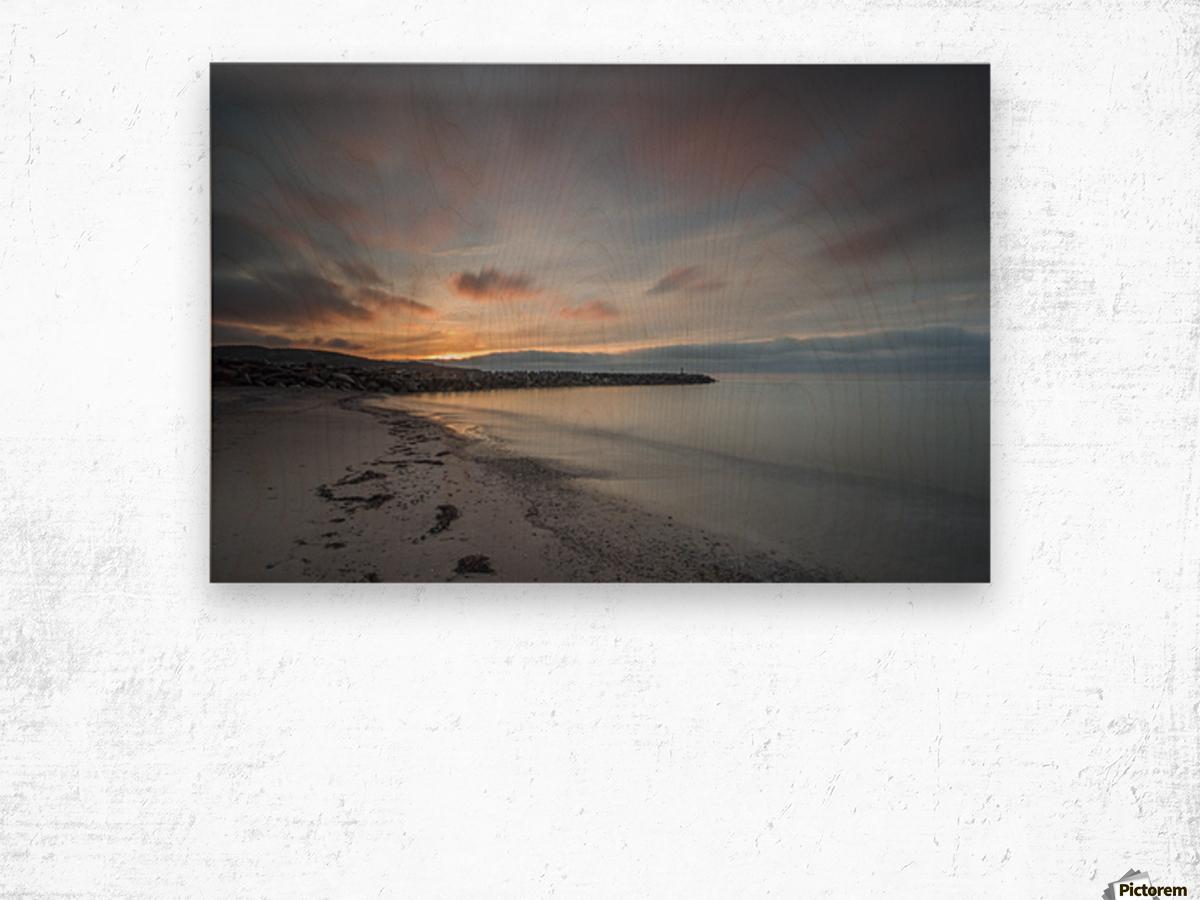 Belle Sunset Wood print