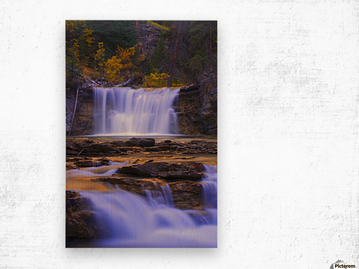 Johnston Canyon In Banff National Park, Alberta, Canada Wood print
