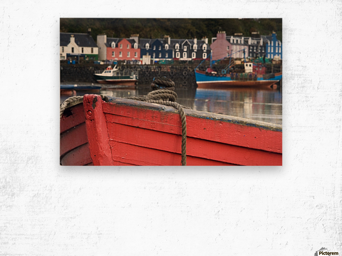 Closeup Of The Bow Of A Boat, Tobermory, Isle Of Mull, Scotland Wood print