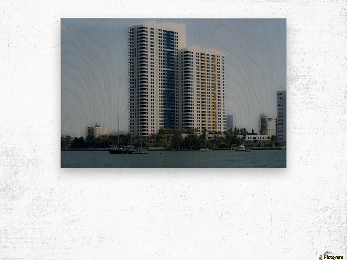 Miami Beach Buildings Impression sur bois