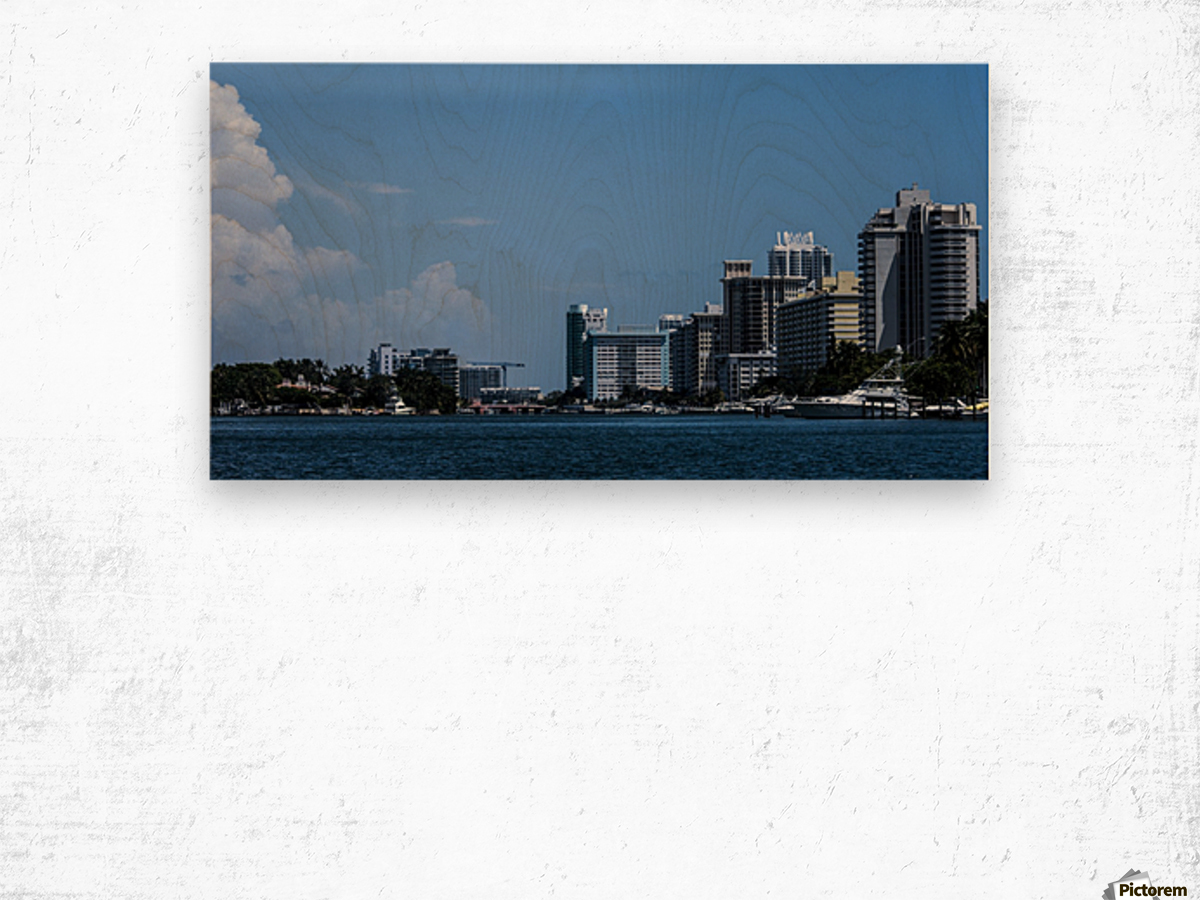 Biscayne Bay Wood print