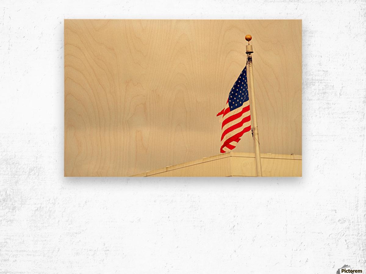 American Flag Impression sur bois