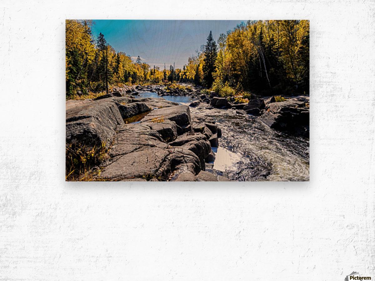 River Bed Wood print