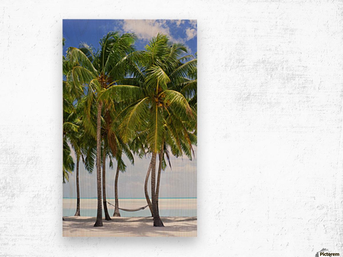 Aitutaki Lagoon Resort, Aitutaki, Cook Islands Wood print