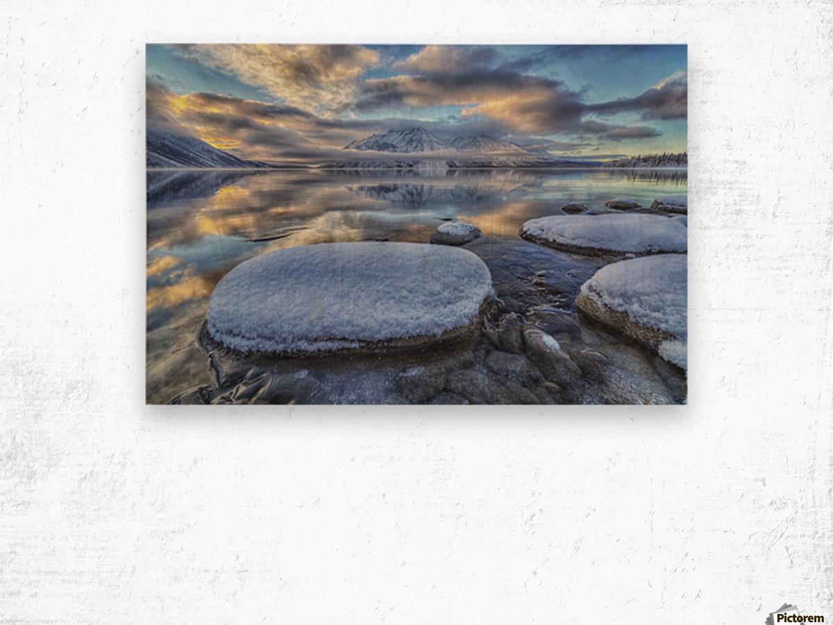 Kathleen Lake and Mount Worthington in Kluane National Park; Yukon, Canada Wood print