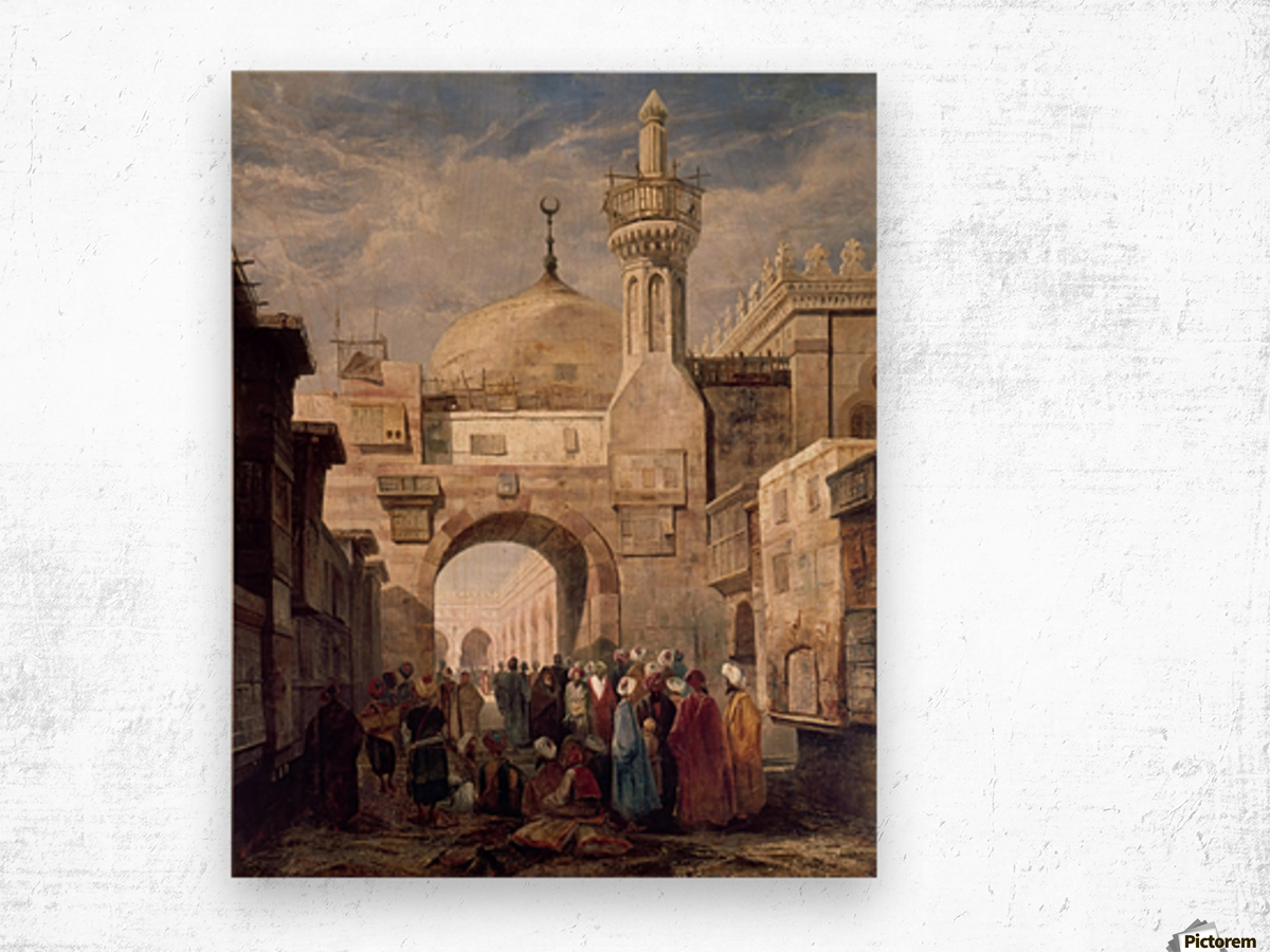 Mosque of Al Azhar in Cairo Wood print