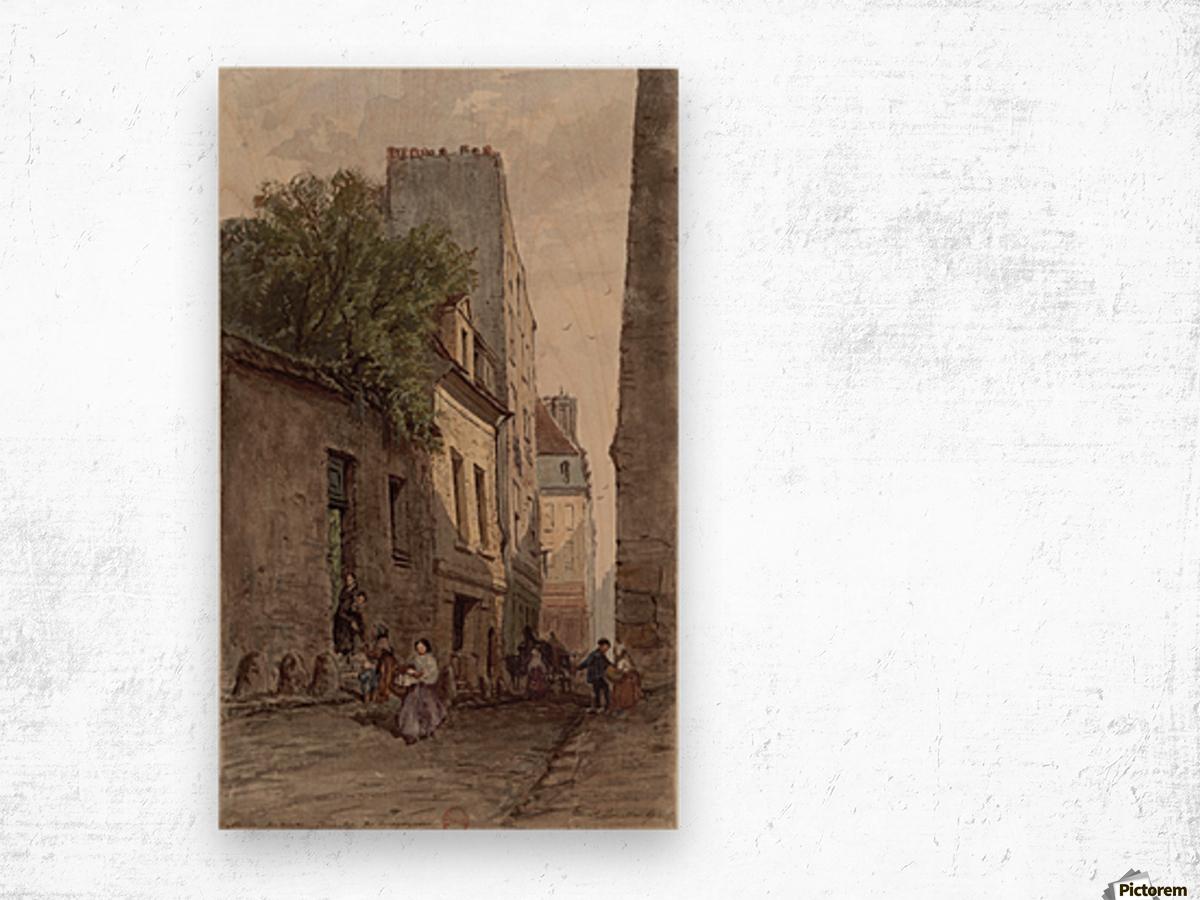 Maison du diacre Francois de Paris rue des Bourguignons Wood print