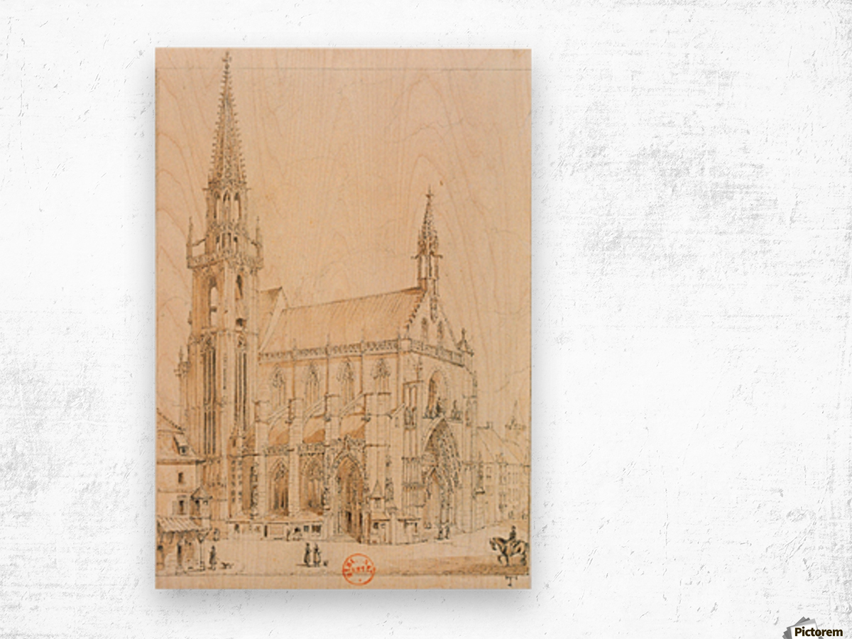 Eglise de Thann Wood print