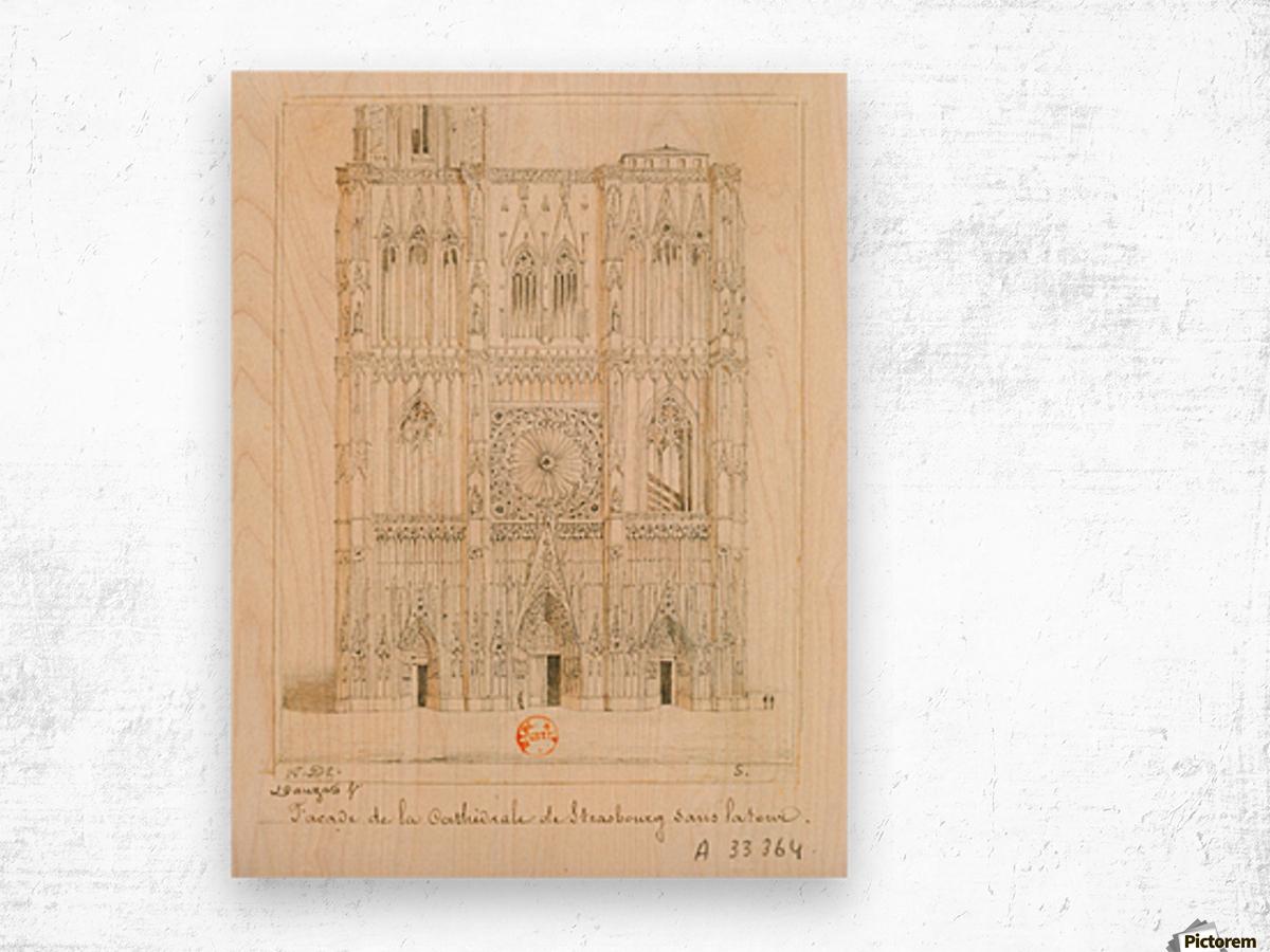 Facade de la cathedrale de Strasbourg Wood print