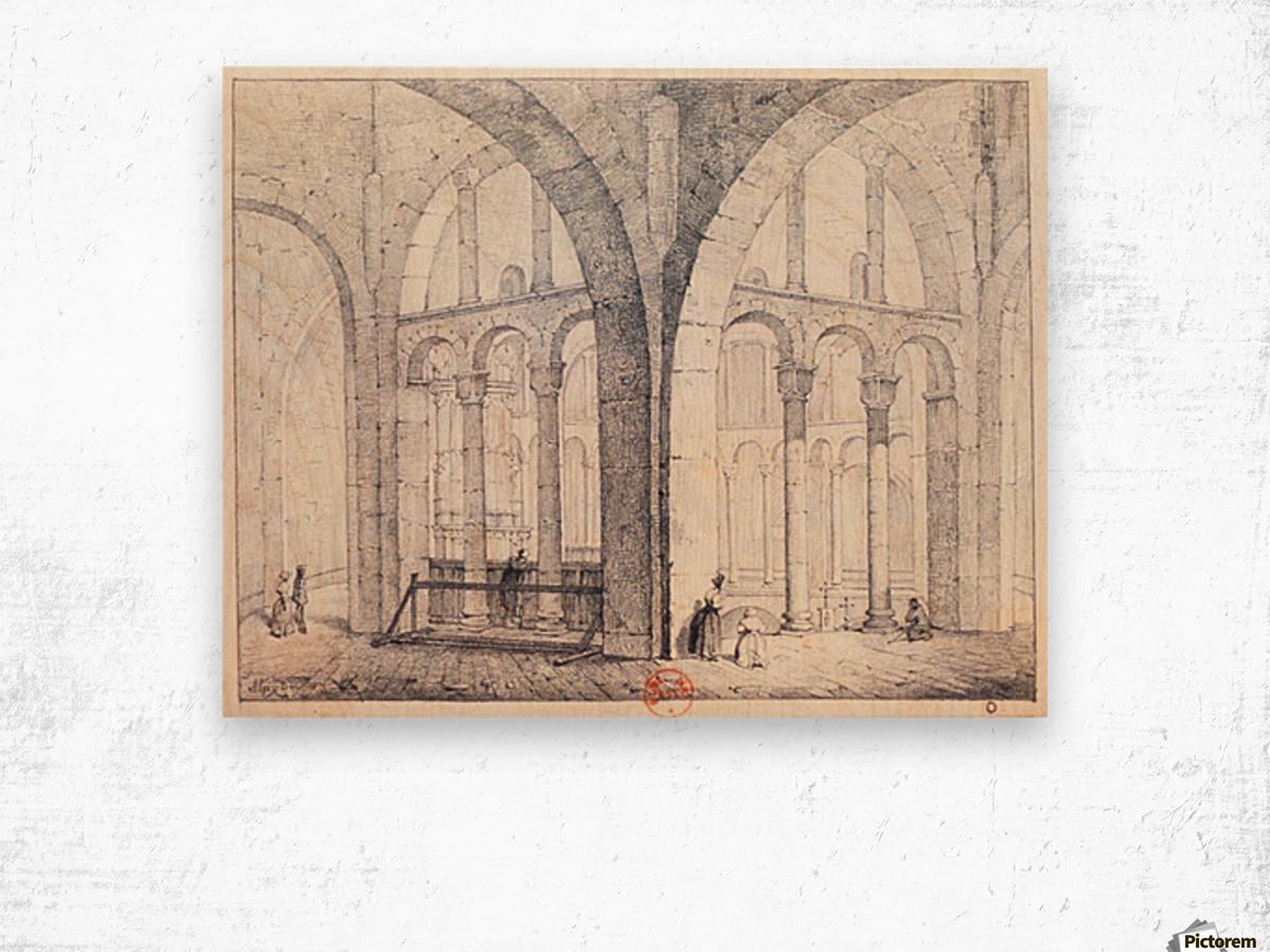 Octogone d'Ottmarsheim Wood print