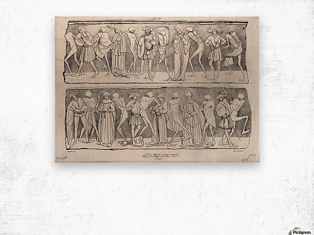 Dance of death Wood print