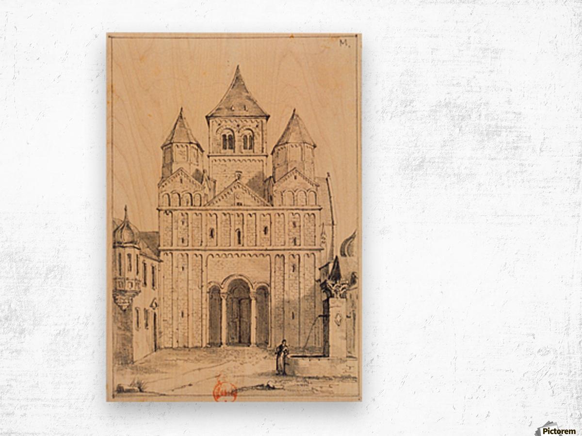 Eglise de Marrmoutier Wood print