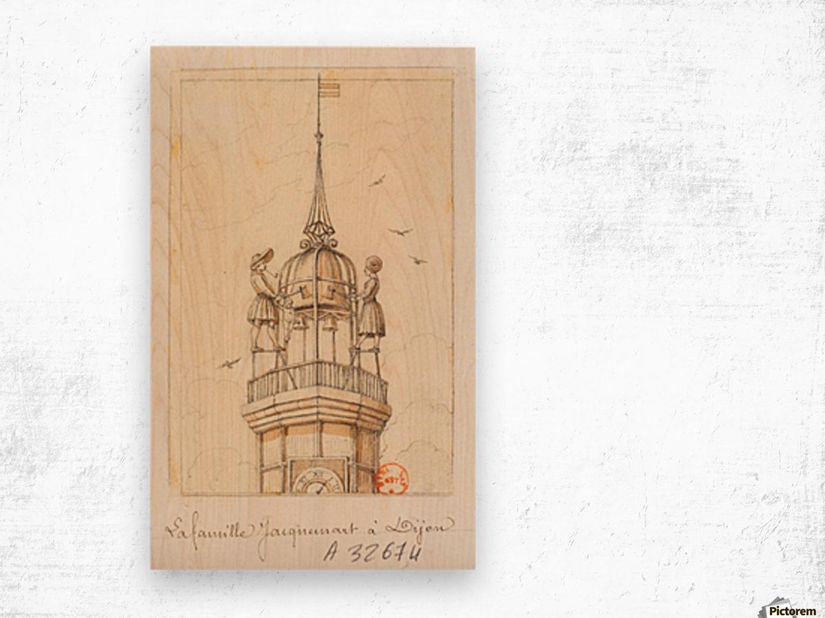 La Famille Jacquemart a Dijon Wood print