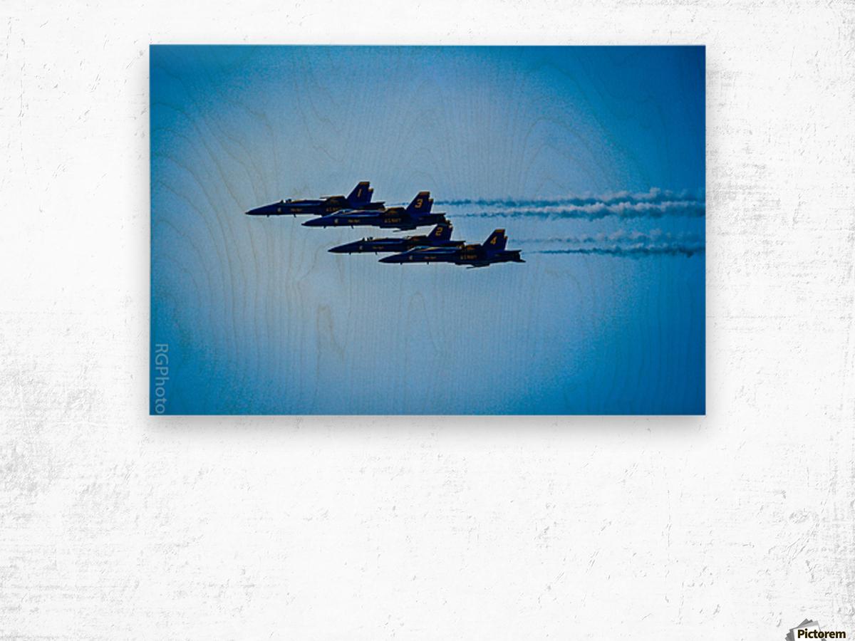 Flight Pattern Wood print