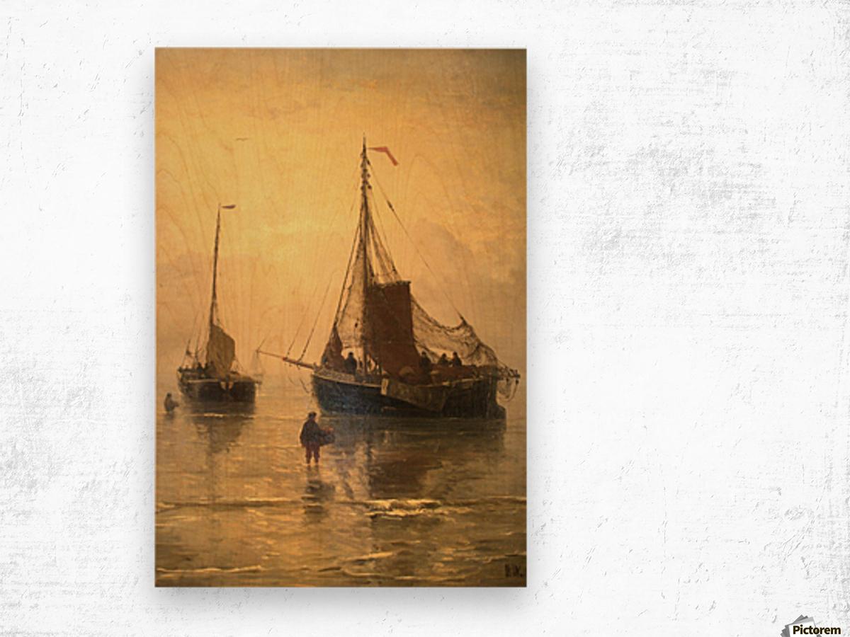 Aankomst van de Vis Wood print