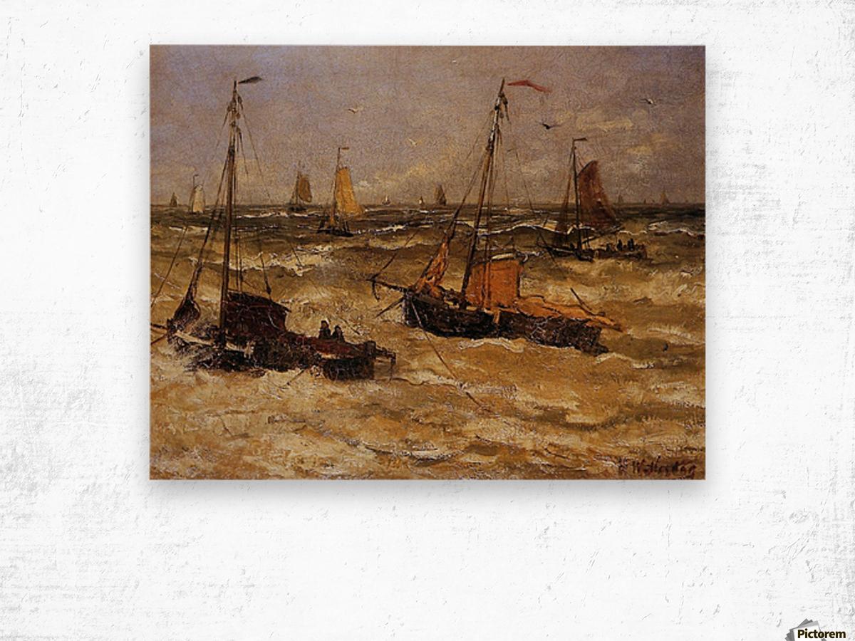 Ships For Anchor Sun Wood print