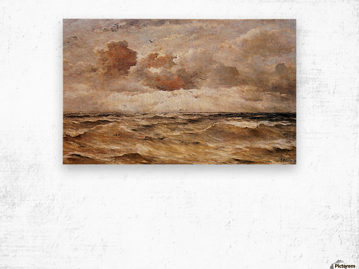 La Mer du Nord Sun Wood print