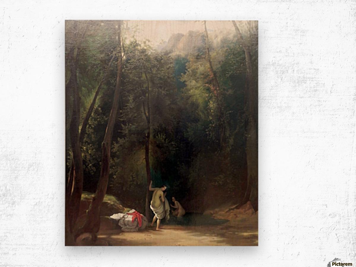 Badende Madchen im Park von Terni Wood print